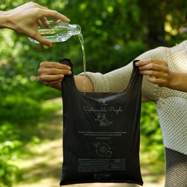 100% Compostable poop bags with handles - 160 pcs.