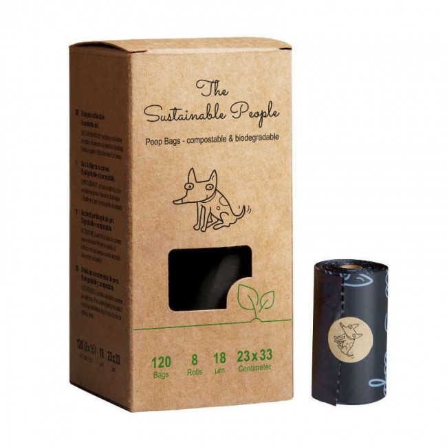 100% Compostable poop bags - 120 pcs.